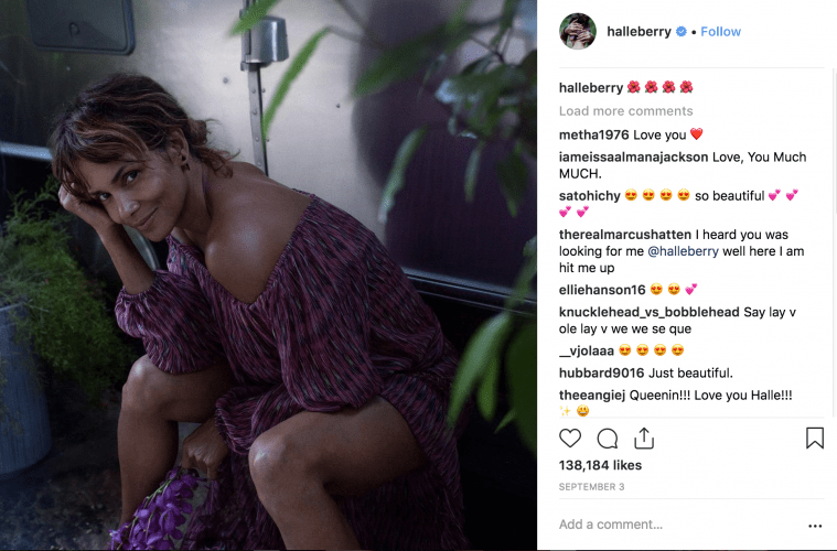 halle berry on instagram