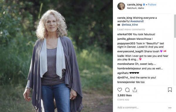 carole king on instagram