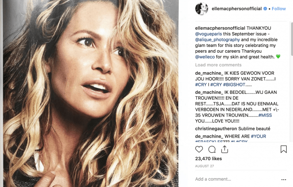 elle mcpherson on instagram