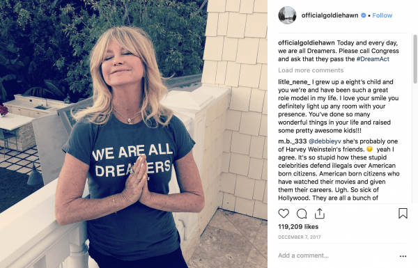 goldie hawn on instagram
