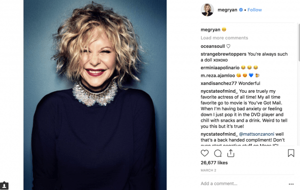 meg ryan on instagram