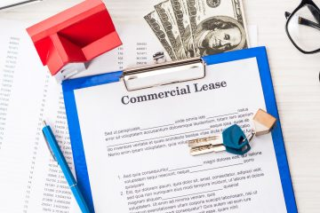 panoramic shot of document with commercial lease